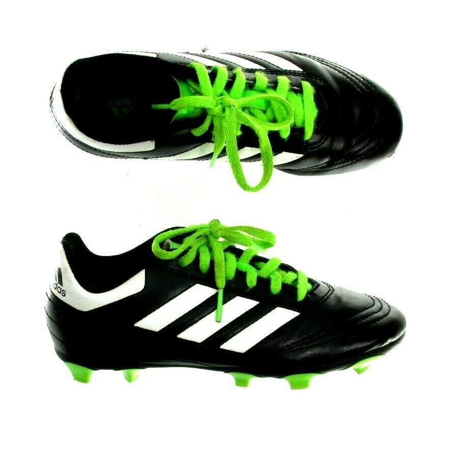 Kids Size 12K Black White Green Adidas