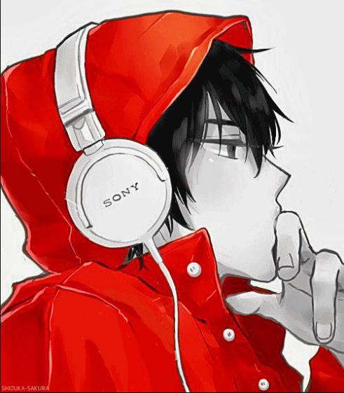 Headphones Menggambar Orang Orang Animasi Animasi