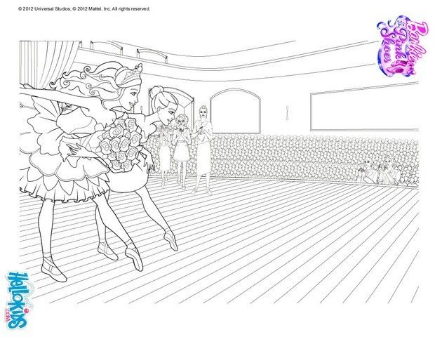 Tara Is Training Barbie Coloriage Page More Ballerina Coloring Sheets On Hellokids