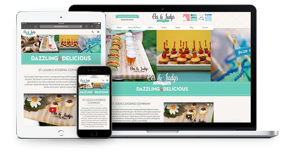 Ces & Judy's Catering Website Design