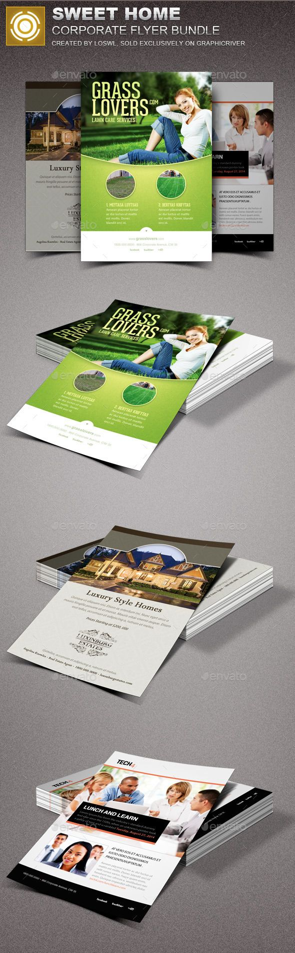 Sweet Home Corporate Flyer Bundle | Pinterest | Flyer template, Real ...
