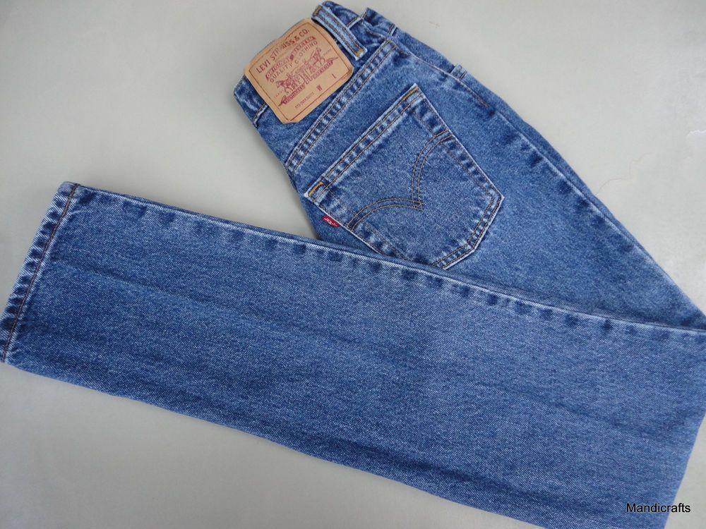 Levis Personal Pair Jeans 1990s size 26 x 33 Boot Denim Red Tab Canada Vintage