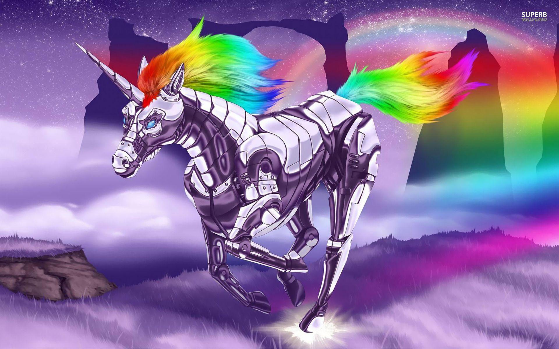 Robot Unicorn Unicorn Wallpaper Mythical Creatures Artistic Wallpaper