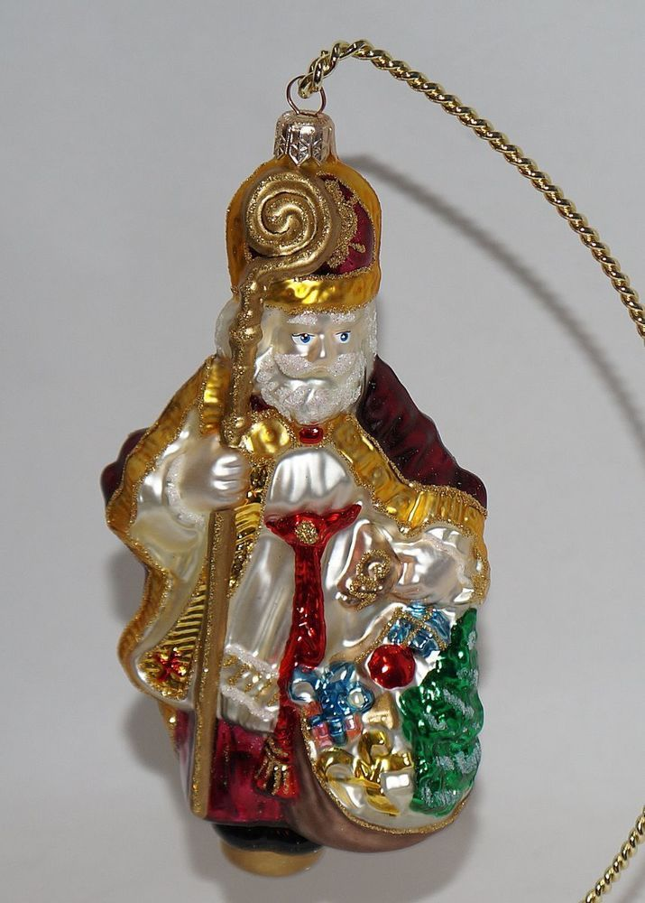 Kurt Adler Polonaise Glass Bishop Christmas Ornament Poland ...