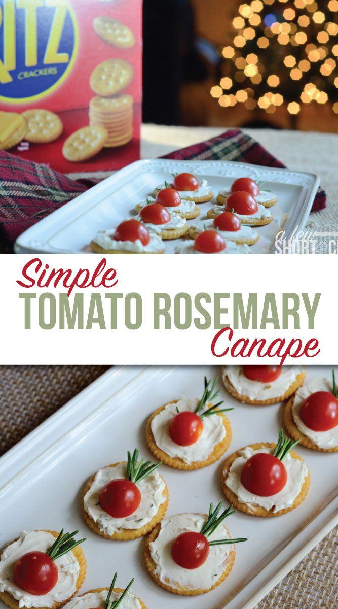 Simple tomato rosemary canap s recipe the o 39 jays for Canape recipe easy