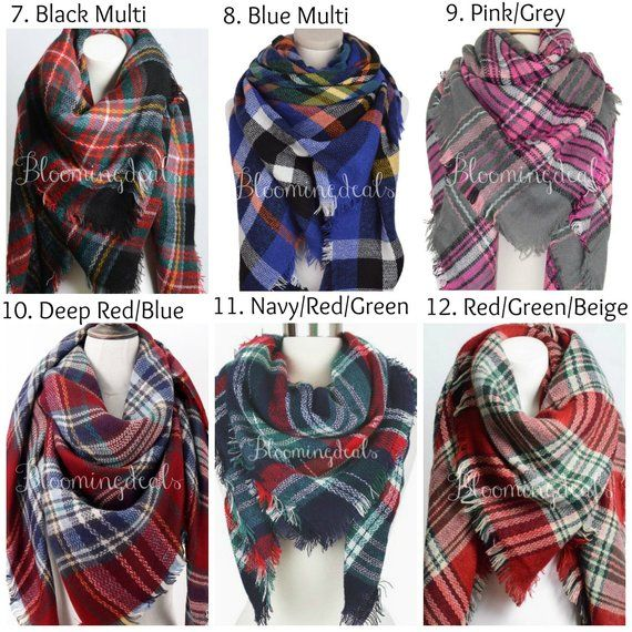 0aa6086ae3974 Wedding Blanket Scarves, Oversized Plaid Tartan Scarf, Winter Scarf,  Monogrammed Christmas Gift, Sec