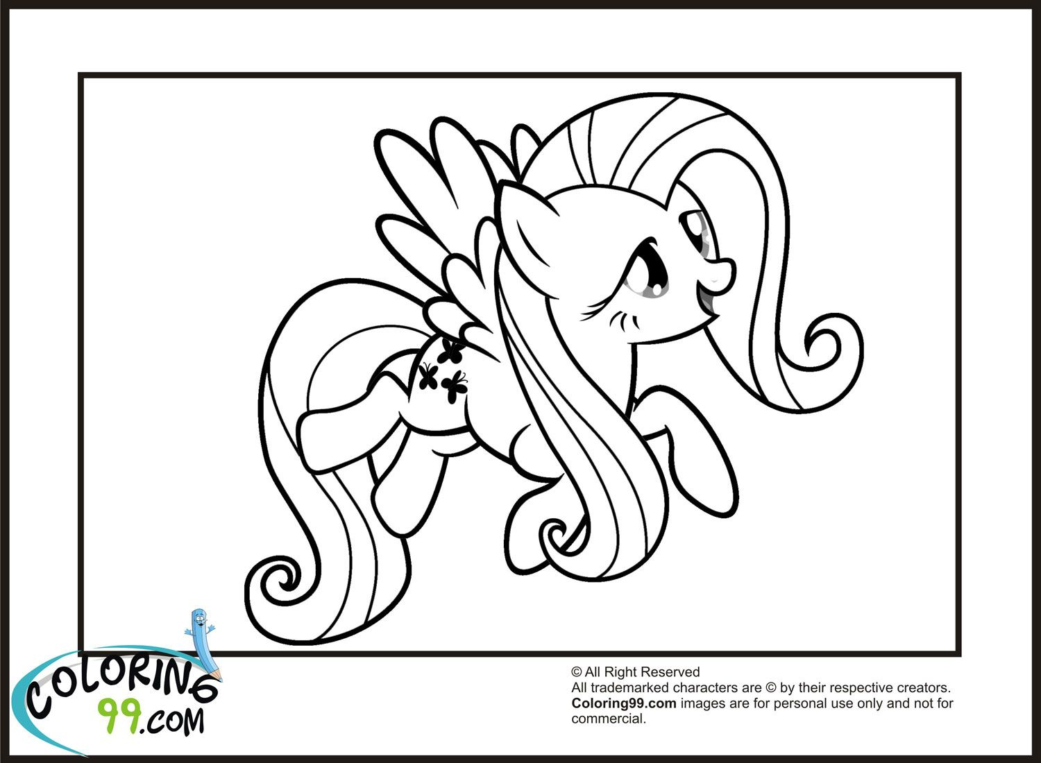 mlp-flying-fluttershy-coloring-pages.jpg (1500×1100) | Coloring 4 ...