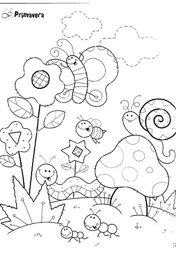 primavera | primavera | Pinterest | Coloring pages, Coloring sheets ...