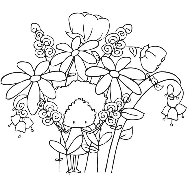 Stamping Bella Patsy Pixie Unmounted Rubber Stamp