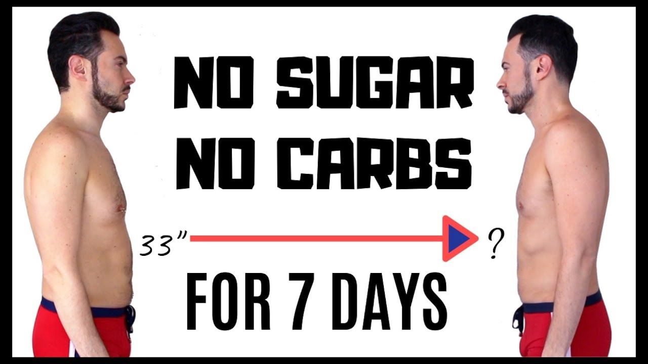 no sugar or carbs diet and workout