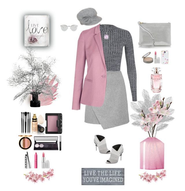 """More Gray (and Mauve)"" by nancyh4745 ❤ liked on Polyvore featuring Miss Selfridge, L.A.M.B., Nine West, CÉLINE, Phillip Gavriel, Pier 1 Imports, Topshop, LAFCO, Casetify and Neutrogena"