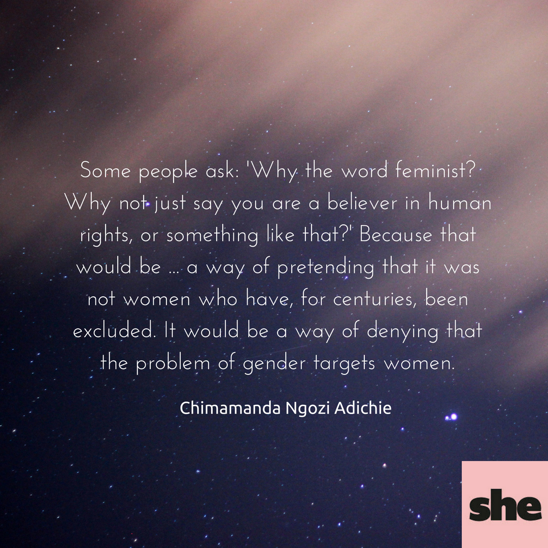 Chimamanda Ngozi Adichie Feminism Quote We Should All Be Feminists