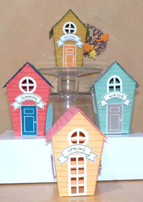 Sweet home house boxes from 2016 Stampin' Up! holiday catalogue. O…