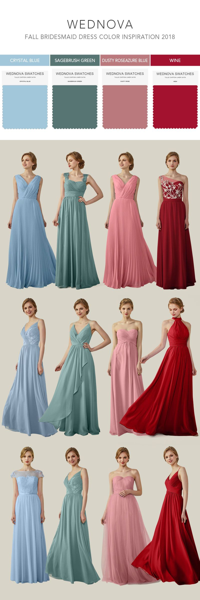 fall bridesmaid dresses chiffon straps dress with lace made to