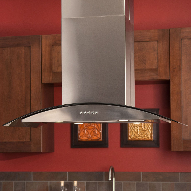 Caselle series 36 island stainless steel range hood
