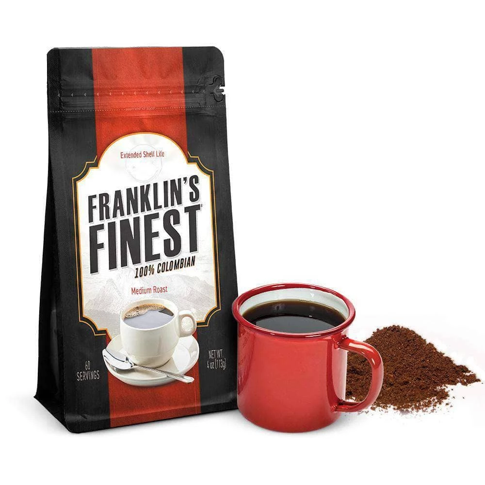 Franklin S Finest Coffee Sample Pouch 60 Servings Fine Coffee Coffee Samples Long Term Food Storage