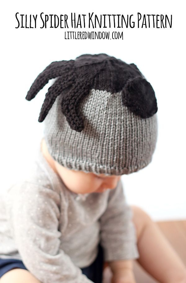 Spooky Spider Hat Pattern By Cassandra May Spider Knitting