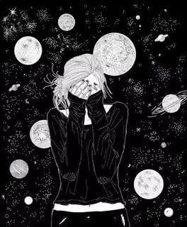 тумблер девушки рисунки космос: 19 тыс изображений найдено ...