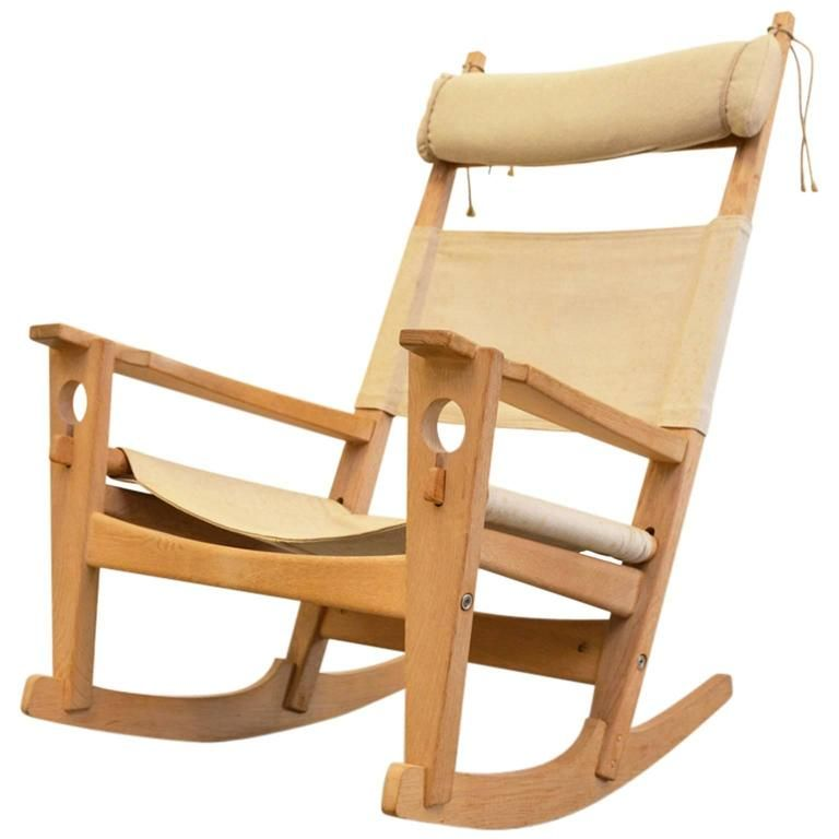 Keyhole Rocking Chair by Hans Wegner | From a unique collection of antique and modern rocking chairs at https://www.1stdibs.com/furniture/seating/rocking-chairs/