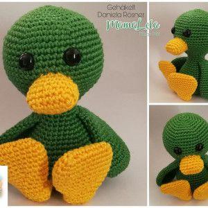 Ente Cally Häkelanleitung - Nephi-Handmade #crochettoysanddolls