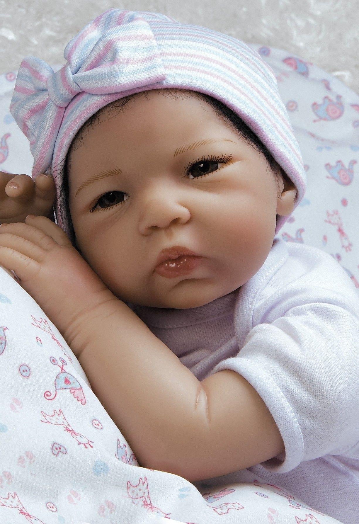 Realistic Asian Newborn Baby Doll Silicone Vinyl Baby