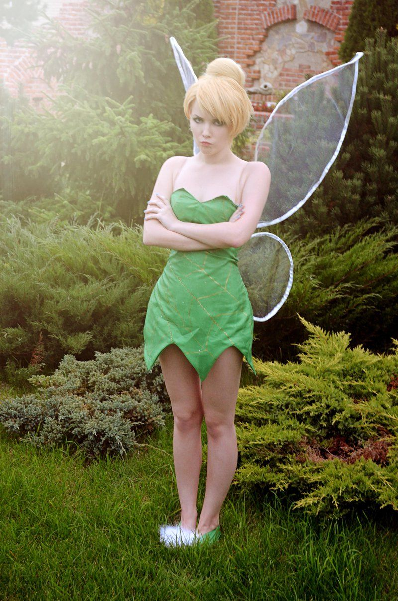 diy peter pan tinker bell costume tinkerbell kost m. Black Bedroom Furniture Sets. Home Design Ideas