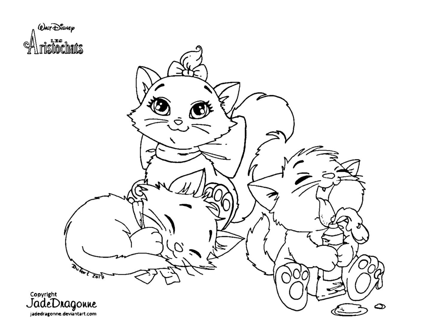 Nice Coloriage Disney Les Aristochats Omalley Pattern - Printable ...