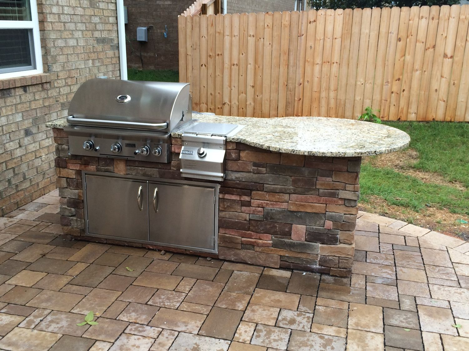 Custom Outdoor Grill Island With Aog Grill Outdoor Grill Island