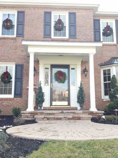 Image Result For Front Porch For All Brick Georgian House