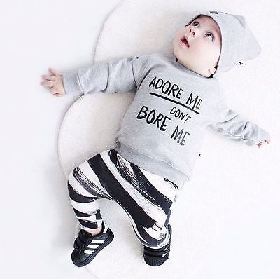 3d1ef5eba 0-36M Newborn Baby Girl Boy Clothes Spring Autumn Long Sleeve Tops ...