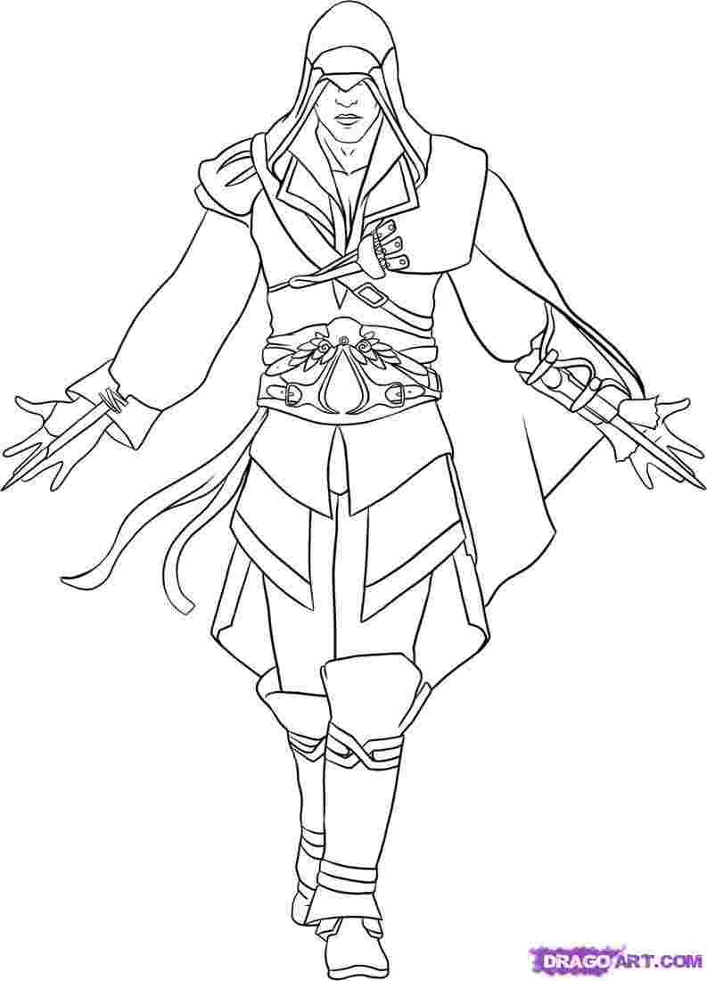 Best Printable: Assassin coloring pages | 5555 ...