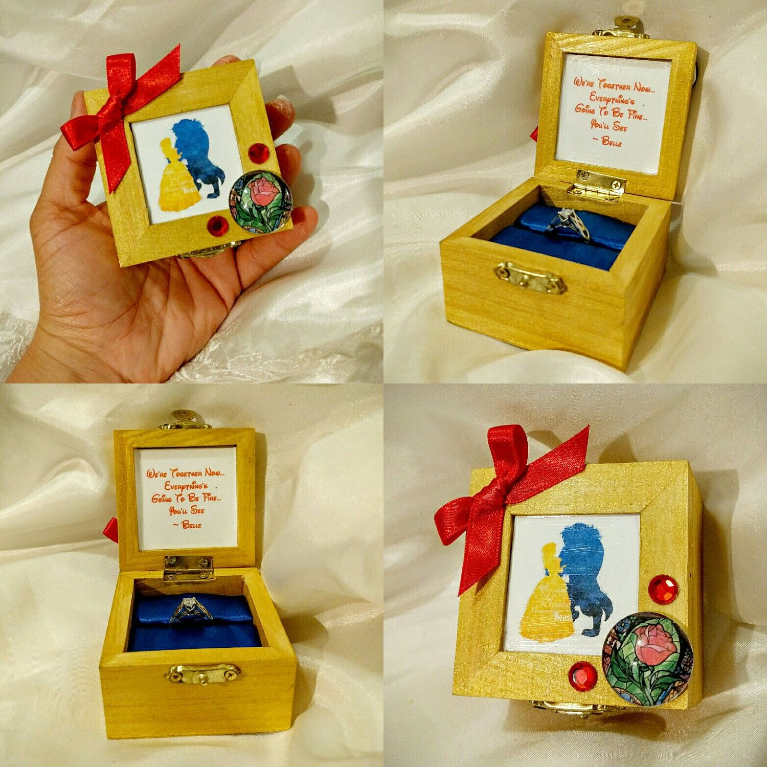 Disneys Beauty and the Beast inspired Engagement Ring Box