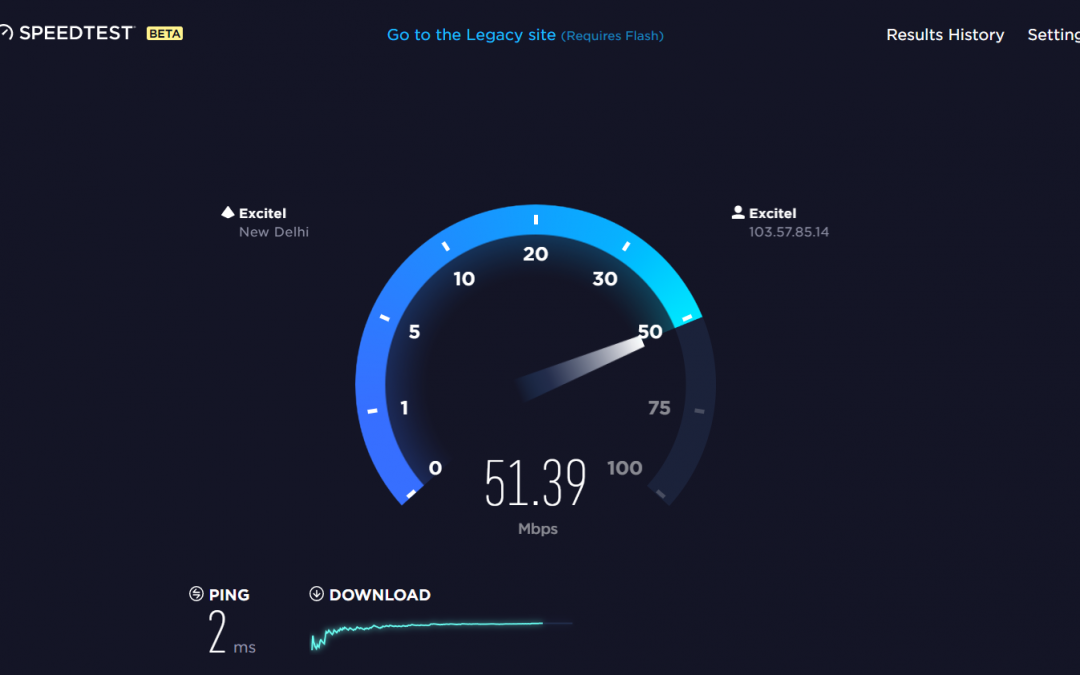 Speedtest Of Excitel S 50 Mbps Internet Plan By Ookla Internet Plans Broadband Internet Internet