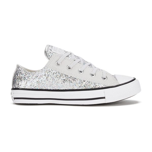 756631426914 Converse Women s Chuck Taylor Textile Glitter OX Trainers -... ( 79) ❤ liked  on Polyvore featuring shoes