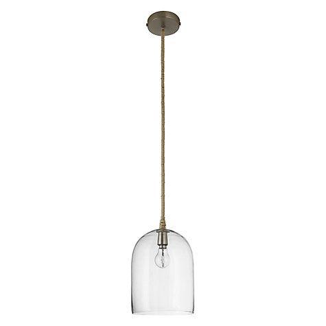 Lights · buy john lewis cloche glass pendant ceiling light online at johnlewis com