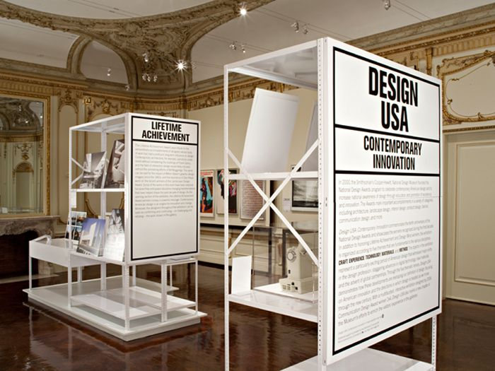 Design USA exhibition design for the Cooper-Hewitt National Design Museum. Designed while working at 2x4.