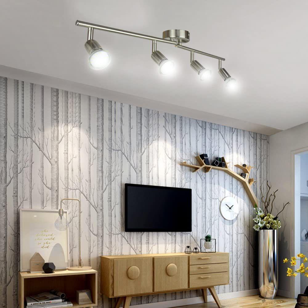 Modern Led 4 Light Track Lighting Kit Track Lighting Kits Living Room Lighting Accent Lamp