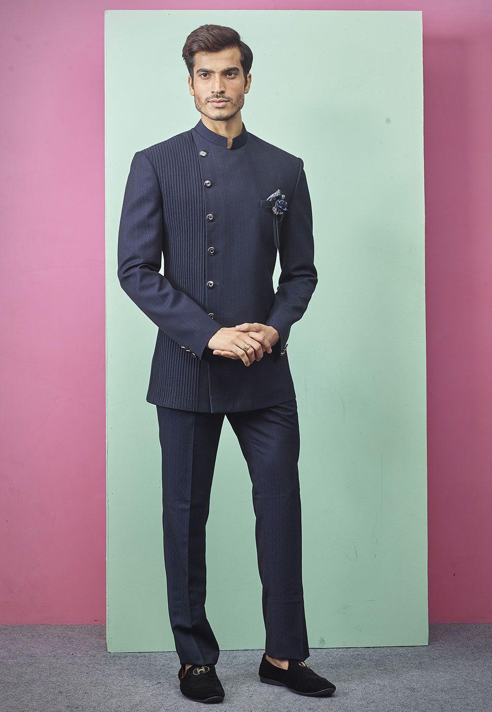 Indian Jodhpuri Suitmens Suitblue Jodhpuri Suitmens Wedding Etsy Jodhpuri Suits For Men Wedding Suits Men Fashion Suits For Men [ 1446 x 1000 Pixel ]