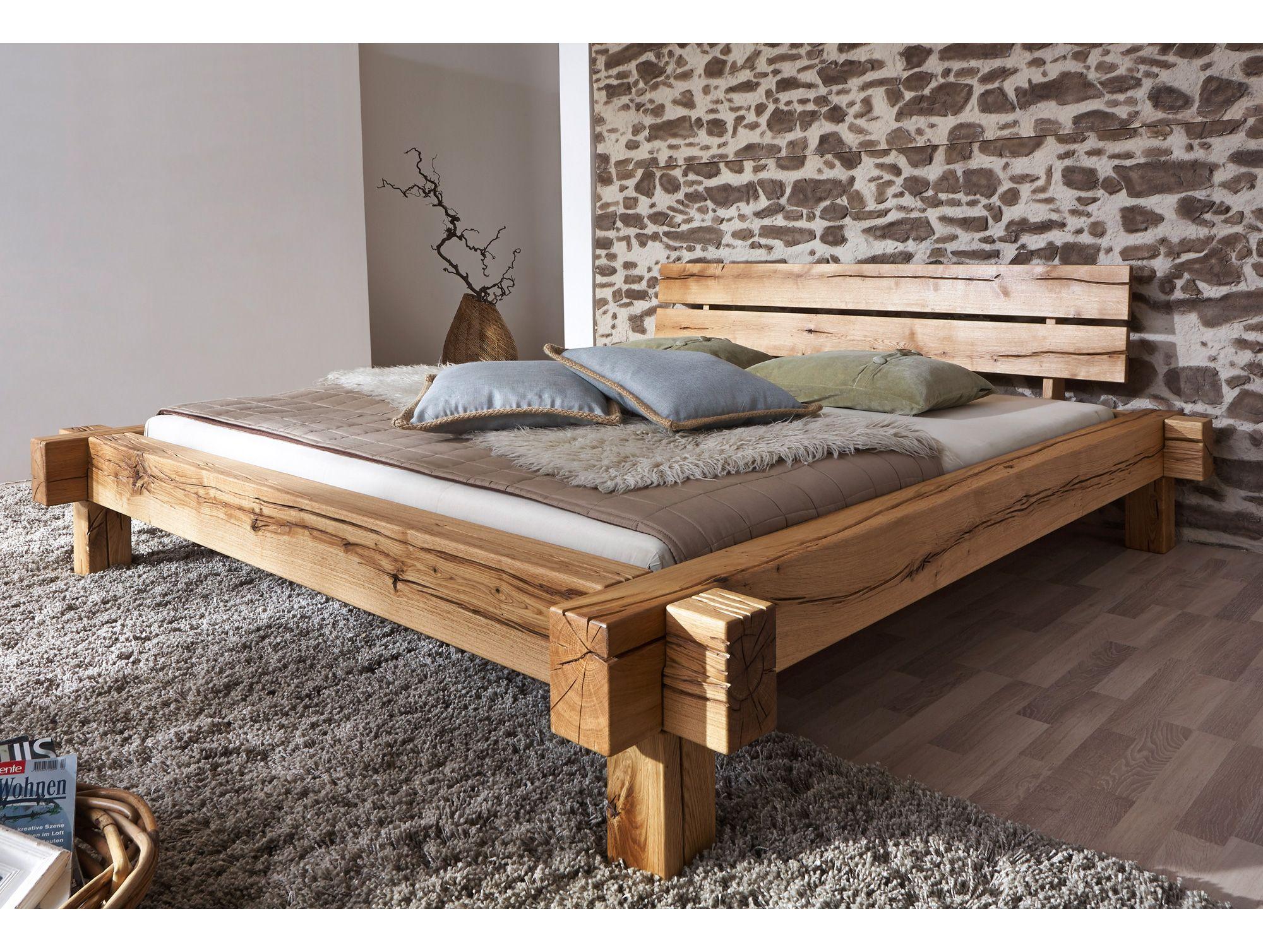 Jazz Massivholzbett Balkenbett Wildeiche Geölt 140 X 200 Cm Yatak Tasarımları Palet Yataklar Mobilya Fikirleri