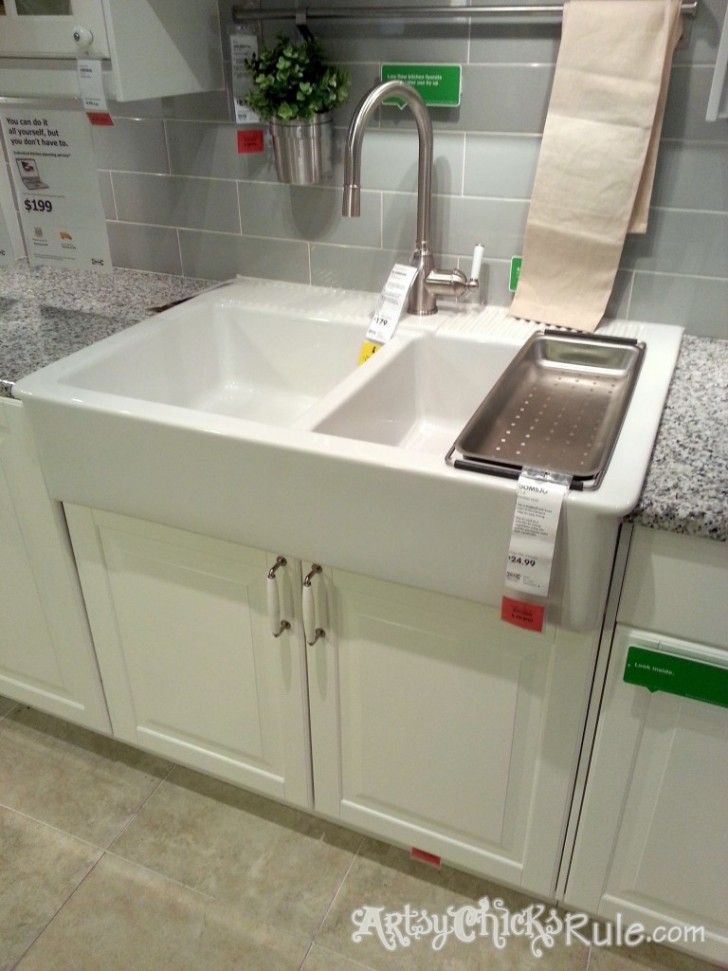 Ikea Farm Sink Domsjo Double Bowl Top Mount Sink On Ikea With