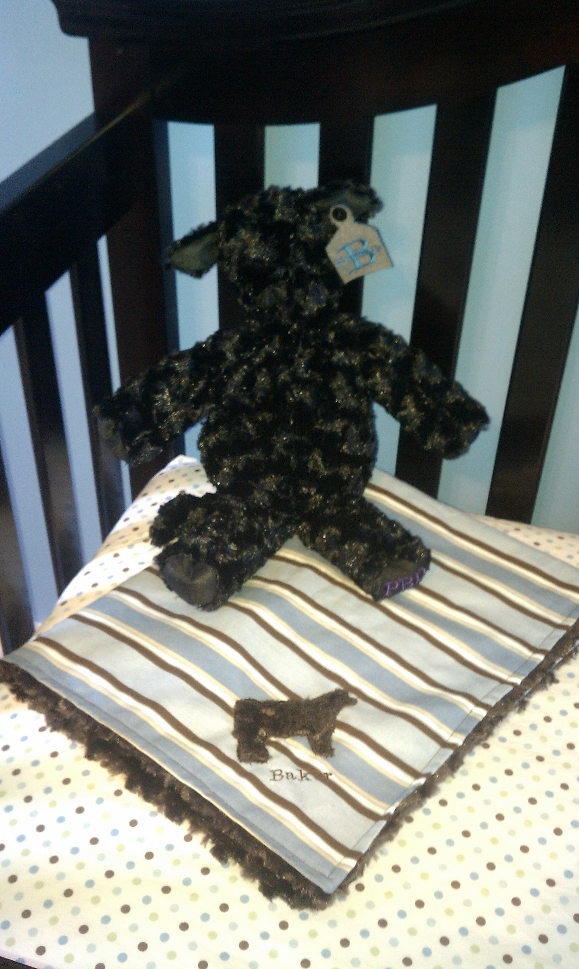 i had this cuddly cow and minky blanket made from the great folks at Purple Banner Desings.