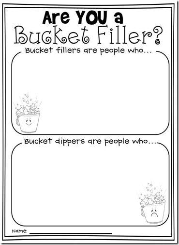 Image Result For Bucket Filler Printables School Activities