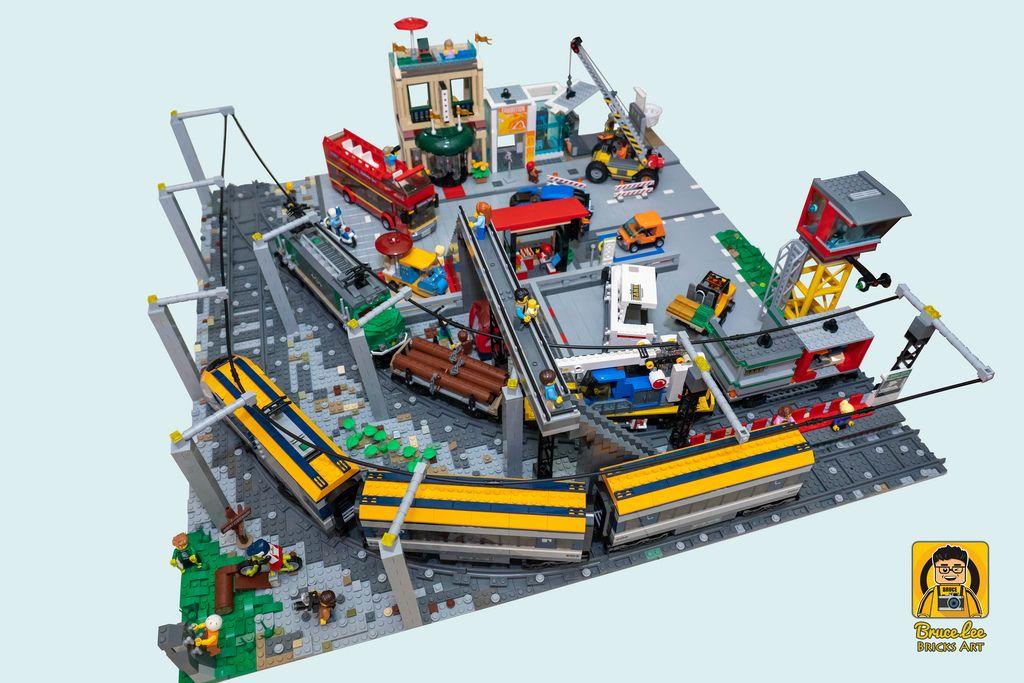 Lego City Train Diorama Lego City Train Lego City Lego Trains