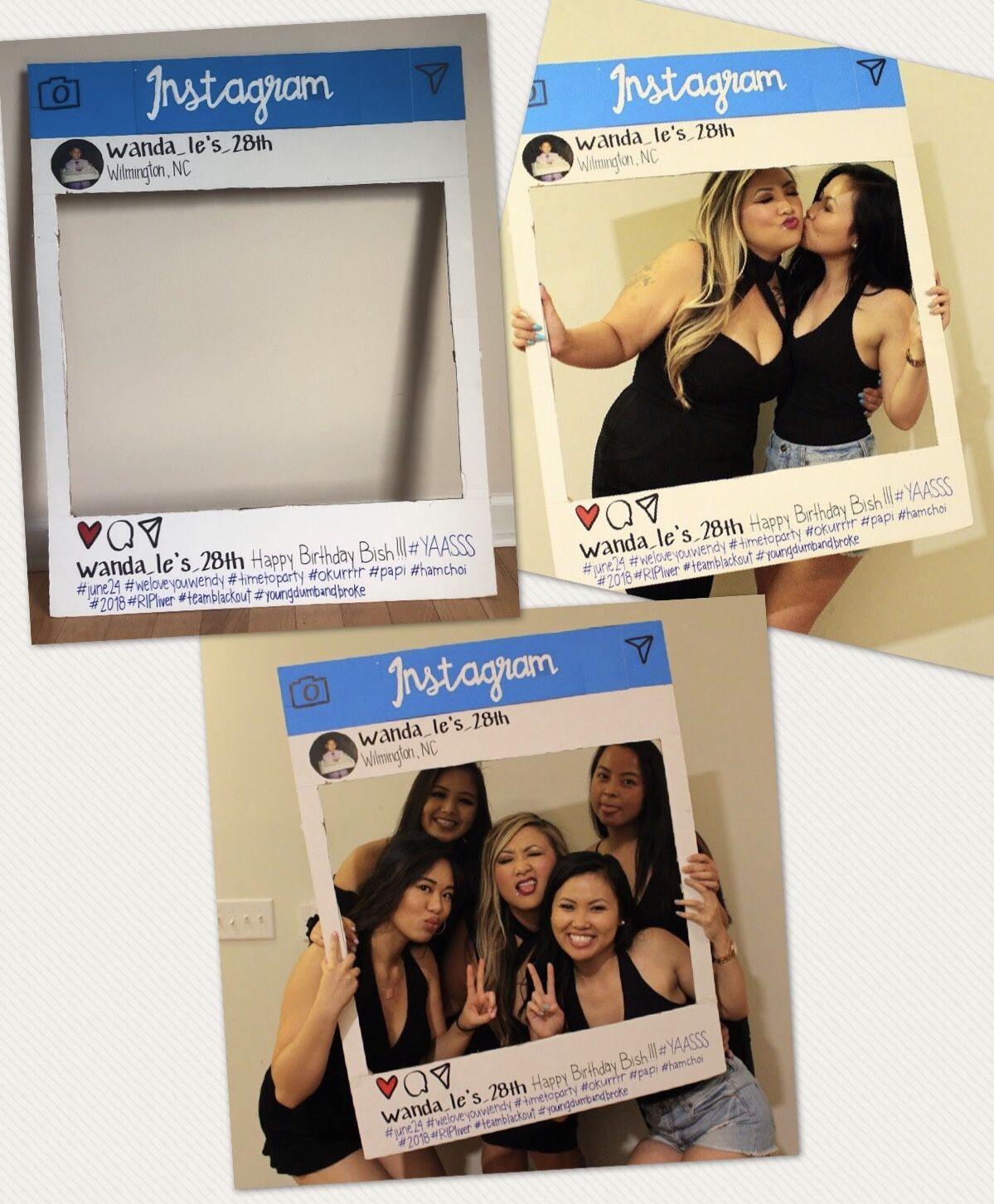 Cardboard box Instagram cutout for birthday ! Instagram