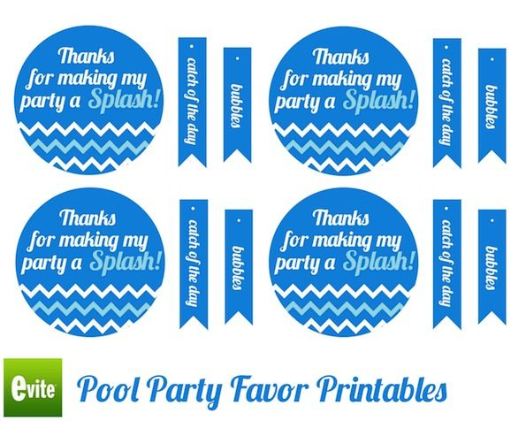 Pool Birthday Party Favor Ideas 25 best ideas about swim party decorations on pinterest beach party decor beach party and water theme birthday Make A Splash With These Pool Party Favors And Printables