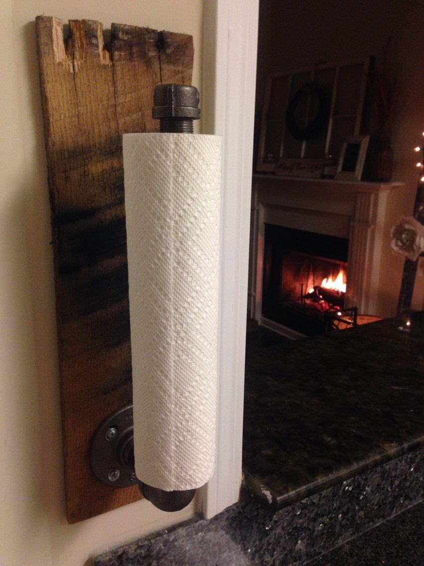 Rustic Industrial Towel Holder, Kitchen & Bathroom Accessories ...