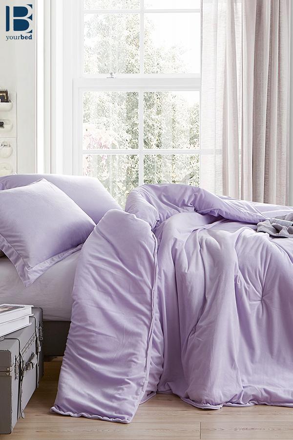 King Comforter Purple Bedding, Light Purple Queen Bed Set