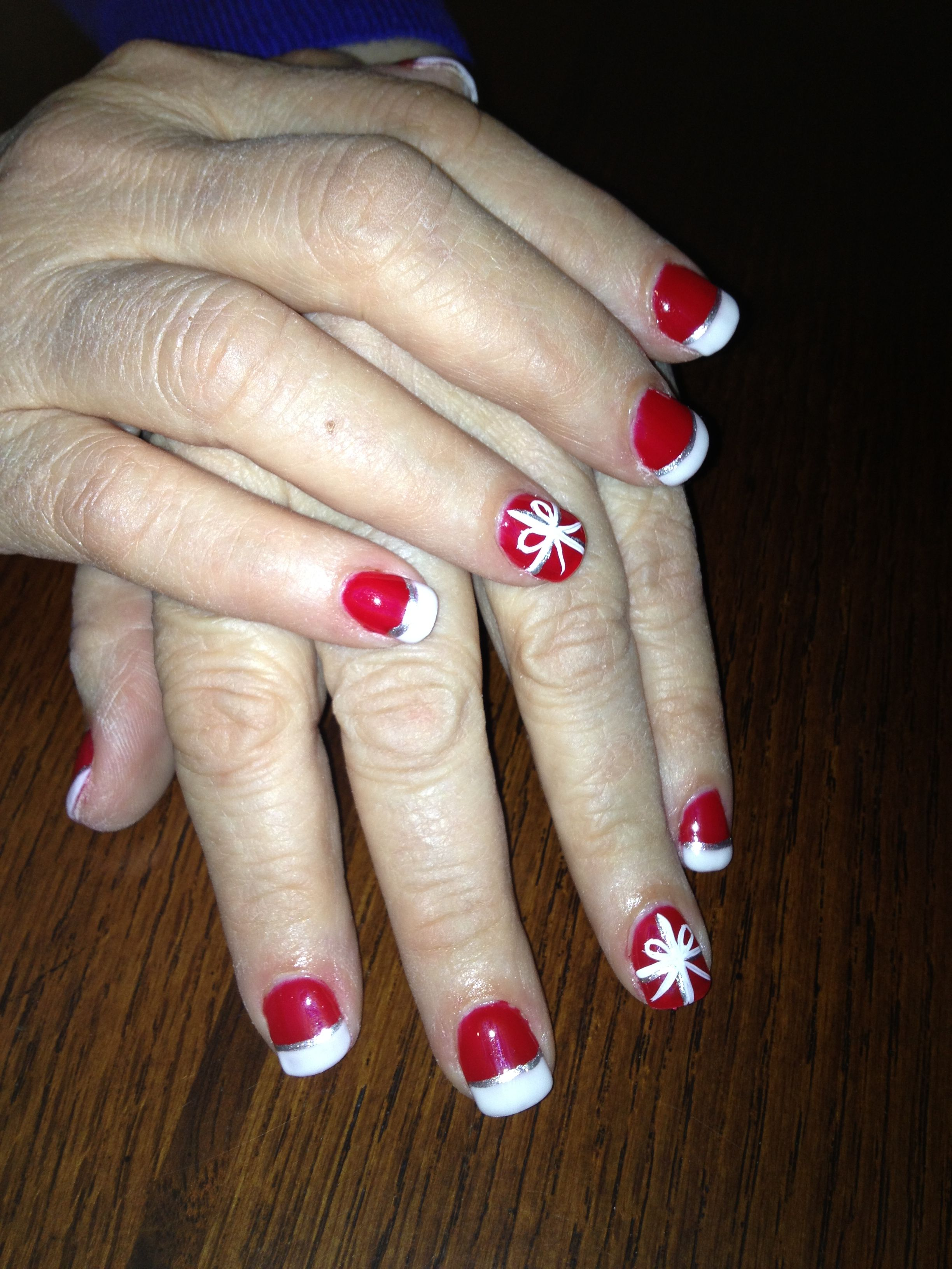 Christmas nails done with liquid gel | Christmas/winter nails ...
