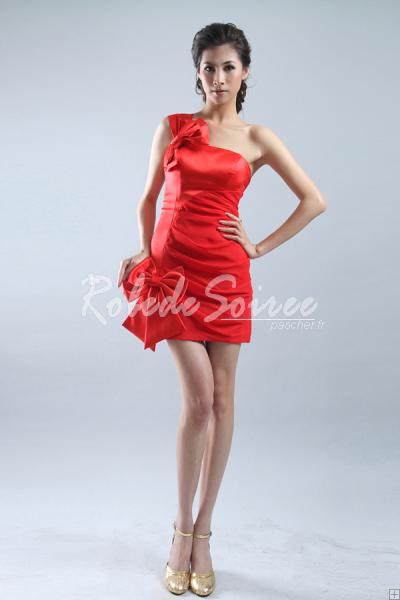 Robe rouge courte épaule [COCK424008] - €101.50 : Robe de Soirée Pas Cher,Robe de Cocktail Pas Cher,Robe de Mariage,Robe de Soirée Cocktail.