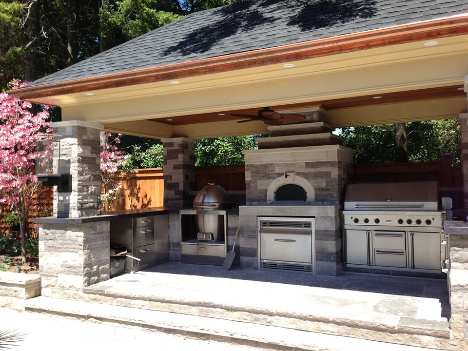 Now That S An Outdoor Pizza Oven I Could Live With Backyard Fireplace Outdoor Kitchen Outdoor Kitchen Design